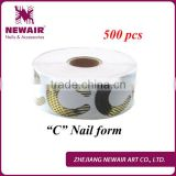 Newair Professional 500 pcs big C shape gel Nail Accessories forms