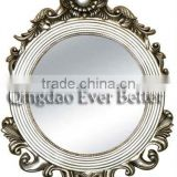 Antique interior artistic bevelled-edge wall hanging mirror frame