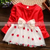 2016 wholesale baby girl cotton party wear dress