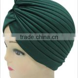 Men and women solid color bow head hat outdoor sunscreen scarf cap watermelon cap cap cap cap can be folded