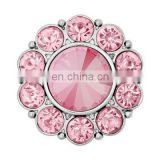 Pink Acrylic Rhinestone Buttons - 25mm