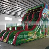 jungle themed inflatable slide,hot outdoor inflatable slip and slide manufacturer for adult giant