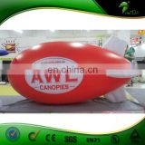 Full Printing Red Advertising Vlimp / Inflatable Zeppelin Helium Balloon / Helium RC Airship