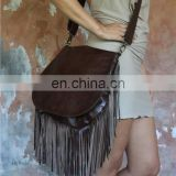 leather Boho Chic Leather bag / Leather shoulder bag Fringe leather Belts Bag Leather fanny bags / Boho bag belt bag belt bag