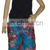 Ethnic Indian Womens Cotton flower print Trouser Pants