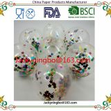 EN71 part 12 approval transparent confetti balloons 6pcs latex balloons holiday parties wedding room decorations