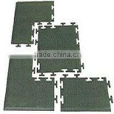 interlocking gym floor/ safety rubber tile/ indoor sport flooring (EN1177,SGS, IOS9001:2000certificate)