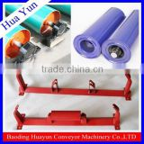 Heavy duty mining equipment conveyor belt spare parts with conveyor idler roller pulley bracket