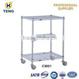 Manufacture Wheel Movable Wire counter display rack