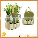 high quality nylon garden tools carry bag,green multi pockets garden tool organizer,Nylon bucket garden tool bag