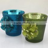 wholesale mercury jade green rough glass jars