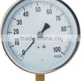 "113mm(4.5"") . process pressure gauge stainless steel case brass internal"