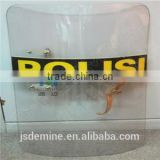 Polycarbonate bullet proof panel for police shield