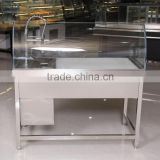 APEX customized commercial supermarket restaurant shop fitting luxury faucet cleaning table type stainless steel kitchen sink