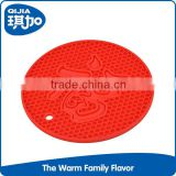 Eco-friendly silicone material low price wholesale round cheap placemat