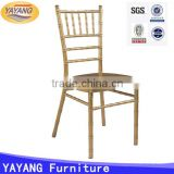 Cheap price aluminum gold wedding tiffany chair chiavari white in hotel                                                                         Quality Choice