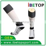 Wholesale Custom cotton men black china elite basketball socks
