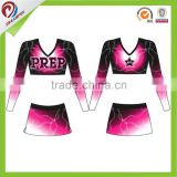 spandex cool pass sublimation cheerleading uniform, long sleeve cheerleading uniforms                                                                         Quality Choice