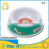 best selling custom plastic round shape pet food bowl