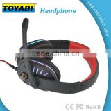Cool LED Headphone Headband Games Earphone Gaming LED Headset with Microphone Volumn Adjustment
