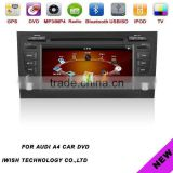 2 dins 7inch brand iwish Android 4.0 car dvd radio for Audi A4
