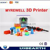 2015 Hotsale Myriwell RL200A Full Metal,Touch Screen Control Multicolor 3D printer,With ABS Filament Material Type
