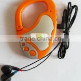 Portable one channel radio with carabiner and hook for promotion, hot selling promotion radio, one channel radio