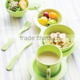 Baby product Tableware 7pcs_Eco-Friendly Soy bean plate set made from cornstarch