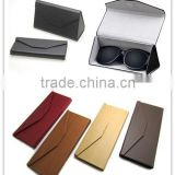 Brand new style leather folding case for sunglasses