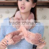 New style wholesale scarf fashion fur scarf hot sale women scarf rabbit fur splicing QYQX-01
