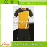 New design custom black yellow retro soccer jersey set uniform                                                                                                         Supplier's Choice