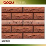 Red exterior wall decoration clinker small brick tile 60x240mm outdoor cladding wall clinker tile hot sale russia wholesale