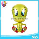 Yellow duck carton character balloon for customed balloon for promotion or kids'gift and party needs