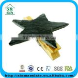 [factory direct] 6x6cm Cut Edge Star Shape Slate Chalkboard Clip Item JSJ-0606ID1A