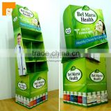 350g CCNB + E flute Cardboard Paper Material floor display rack for pharmacy