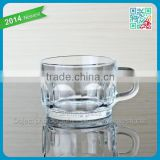 coffee glass cup fashion cheap embossed coffee glass cup transparent coffee glass cup with handle
