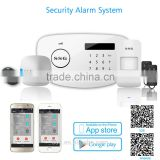 SSG long range wireless gsm alarm security DIY kit with Auto Dial and outdoor siren ,glass sensor and gate for home