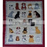 digital printed tea towel kitchen linen/cotton teatowel printed for sales &home decoration animals