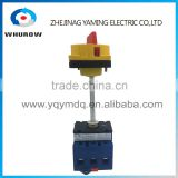 Isolating switch YMD11-80B with padlock handle aluminum pole 80A Load break power cut off operation outside electrical cabinet