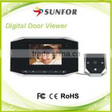 Anti-disturb Hot Sale Home Security Apartment Ip Video Door Bell Peephole With Motion Detection