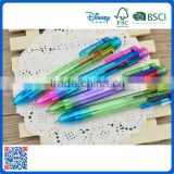 Promotional cheap plastic multi color ball point pens with six color                                                                                                         Supplier's Choice