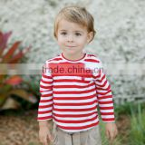 MJ13 dave bella spring autumn 100% cotton striped babi outwear baby clothes baby T-shirt                                                                         Quality Choice