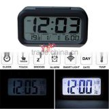 LED Digital LCD Alarm Clock Time Calendar Thermometer Snooze Backlight Black