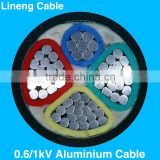 Hebei Lineng Low Voltage 4 Core Aluminium Cable 4 Core 35mm2 Red Yellow Blue Green Pvc Insulated Power Cable