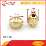 New design brushed gold custom garment hanging metal beads for clothing swimwear