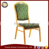 E-042 Green fabric aluminium hotel chairs for banquet hall