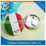 Italy national flag sign metal badge/tin pin on button badge with best quality for free design by your ideas sold in cheap price