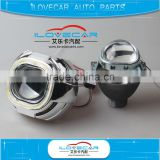 Universal auto square Q5 D2S projector lens with Q5 square shroud for HID xenon headlight