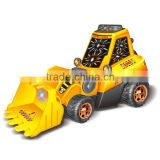 3D electric mini excavator for children with light