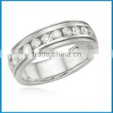 Hot sale popular white gold round diamond sterns wedding rings catalogue